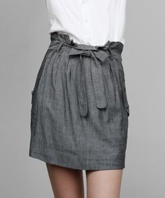 High Waisted Gray Skirt
