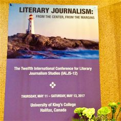"If you wanted to do a word cloud of the literary journalism conference I just attended in Nova Scotia, the word ""feel"" might be the …"