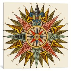 iCanvas 'Nautical Star' by Fab Funky Canvas Print