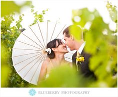 wedding photography - blueberry photography - real wedding - usa - california - napa valley wedding - brix restaurant - melanie & matt - bride & groom - paper parasol