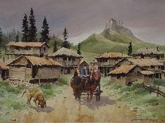 HASAN KIRDI  Watercolor - suluboya