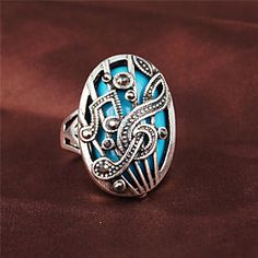 #Fashion Brighton Crystal/Alloy/Gold Plated Ring Style Ring Restoring Ancient Ways Band Rings Wedding/Party/Casual 1pc