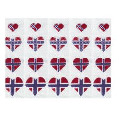 Shop Norwegian Flag Heart Cross Stitch Nordic Norway Postcard created by nyamomo. Norwegian Flag, Norway Flag, Flag Quilt, Cross Stitch Heart, National Flag, Postcard Size, Paper Texture, Cross Stitch Patterns, Quilts