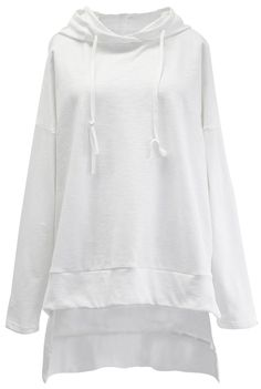 This white top really is simply sweet! The casual loose cut make this fit a dream! It's so comfy, and not just because of the cut! The fabric is soft and forgiving as well! Find more at Cupshe.com!