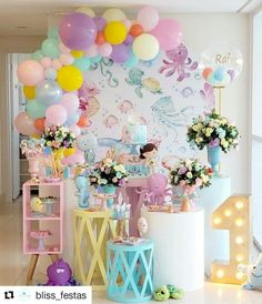 Baby Girl Birthday Theme, Girl Birthday Decorations, Birthday Backdrop, Unique Birthday Party Ideas, 1st Birthday Parties, Balloon Decorations Party, Baby Shower Decorations, Zelda Birthday, Balloons Galore