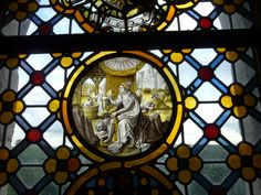 Window in Warwick Castle, Warwick, England. Warwick England, Warwick Castle, Stained Glass Windows, October, Stained Glass, Stained Glass Panels