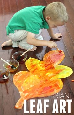Toddler Approved!: Giant Colorful Watercolor Fall Leaves for Kids