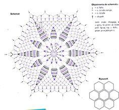 fioletowa serwetka - diagram