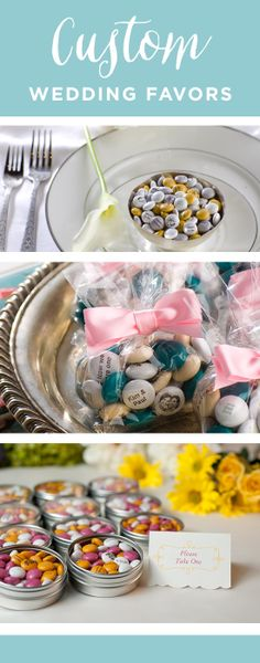 Check out these fun (and tasty!) ideas for wedding favors! www.bestweddingshowcase.com