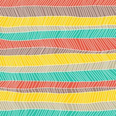 Beach Stripe (warm) by Jacqueline Maldonado