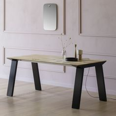 Artù Table Miniforms, designed by Andrea Lucatello is a dining table characterized by a strong personality, essential and  avant-garde design. It is availble in two versions: fixed or extensible. #table #wooden