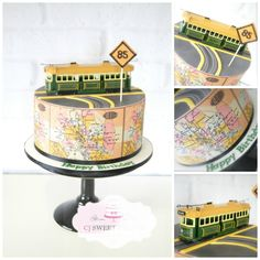 Catch the Tram! - Cake by cjsweettreats - CakesDecor