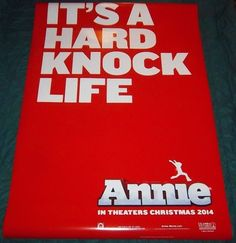 """Annie """"It's A Hard Knock Life'"""" Original Movie Poster, LARGE 4' X 6' Size *NEW*"""