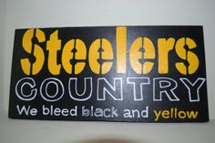 a5b2eb365 Pittsburgh Steelers Sign 10x6 Wood Sign Hand by LindsayLettering