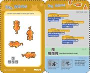 Scratch cards provide a quick way to learn new Scratch code. The front of the card shows what you can do; the back shows how to do it. Click to view and print each card, or download a zip file with all the cards.* You can also take a look at projects using the code on the Scratch Cards.