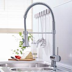 Pull-Down Kitchen Mixer Faucet - Chrome Finish