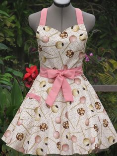 Ready to ship-Sweetheart Hostess Apron-Cake Pops on Vintage Sprinkles-Full of Twirl Flounce. --$36.00, via Etsy.-- adorable :)