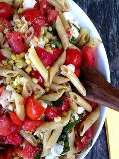 Simplest Tomato, Mozzarella Pasta Salad from Katie Workman/ themom100.com - Katie Workman/ themom100.com