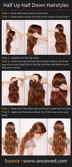 Hair - half updo how to