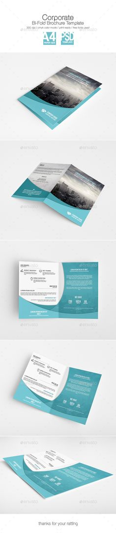 Corporate BiFold Brochure Template — Photoshop PSD #business template #a4 • Available here → https://graphicriver.net/item/corporate-bifold-brochure-template/9541459?ref=pxcr