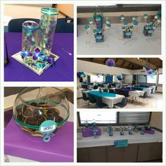 Purple And Turquoise Baby Shower Sweet Route Candy