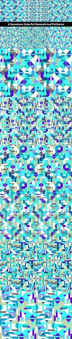 6 Seamless Colorful Geometrical Patterns #multicolor #VectorImage #patterngeometrical #presentationbackground #CheapVectorPattern #PatternSale #AbstractBackgrounds #repeating #PremiumVector #PremiumVectorBackground #DiscountBackgrounds #DiscountBackground #BackgroundSale #PatternCollection #CheapBackground #abstract #PatternDesign #polygon #PatternCollections