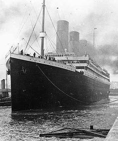 RMS Titanic at Southampton, UK docks, prior to departure on April 10, 1912.