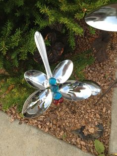 More spoons! Cute in flower beds