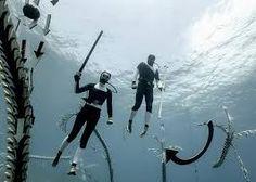 hortense le calvez + mathieu goussin showcase underwater art installation below the aegean sea This Side Of Paradise, Underwater Art, Greece Islands, France, Studio, Retro, Installation Art, Monochrome, Adventure