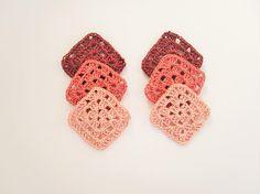 Crochet Granny Square Small Crochet Appliques Shades of