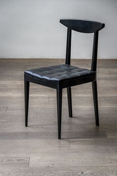 N Chair / Designer - Alexander Andersson for Luteca. Hand crafted in walnut with leather tufted seat