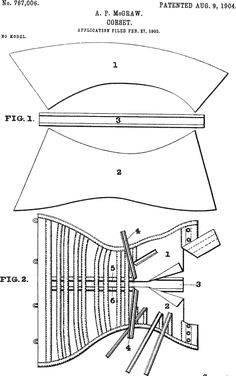 Corset patent, 1904.