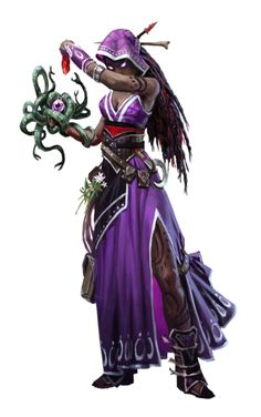 Female Human Dark Tapestry Shaman - Pathfinder PFRPG DND D&D 3.5 5th ed d20 fantasy