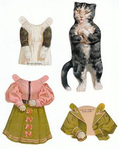 The Paper Collector: Mrs. Cat, McLaughlin Coffee paper doll, c. 1880s