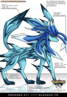 Pokedex 471 - Glaceon FR by Pokemon-FR.deviantart.com on @deviantART
