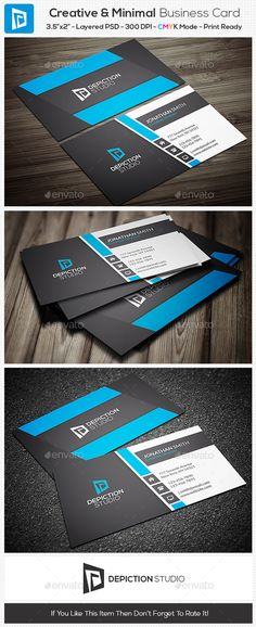 Creative & Minimal Business Card Template #design Download: http://graphicriver.net/item/creative-minimal-business-card/11070726?ref=ksioks