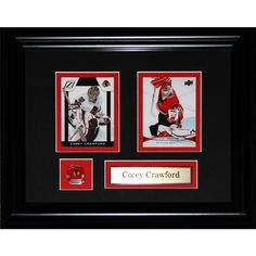Midway Corey Crawford Chicago Blackhawks Nhl 2-card Frame