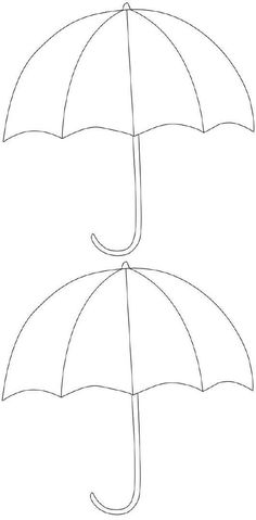 FREE Printable Umbrella Template