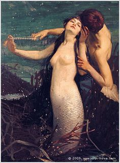 PEARLS FOR KISSES BY JOHN WILLIAM WATERHOUSE