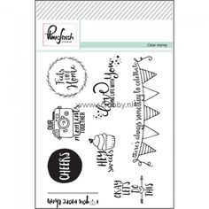 PinkFresh Studio Clear Stamp Set Let's Do This