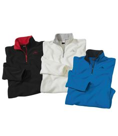 Lot de 3 Micropolaire #atlasformen #formen #discount #shopping #ootd #outfit #fashion #timeless #instafashion #casual #style #travel #voyage  #winter #hiver