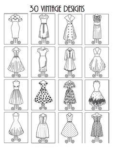 Adult Coloring Books Vintage Dresses 30 Designs By BethIngrias