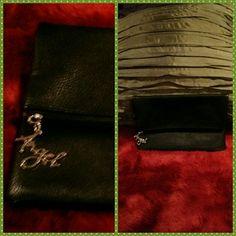 Just reduced: Victoria's Secret clutch Black leather fold over clutch Victoria Secret bag. Brand new! Victoria's Secret Bags Clutches & Wristlets