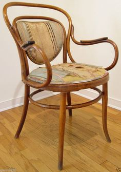 J&J Kohn Bentwood Cane Chair Art Nouveau Wsetin Austria Vienna Antique Thonet #ArtNouveau #JJKohn
