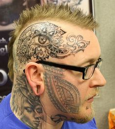 Today's Collection of Amazing Tattoos on Face You Never Seen Before Images)
