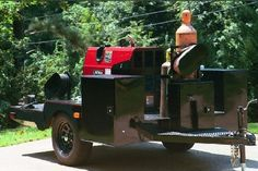Welding Trailer by D York -- Homemade welding trailer featuring a diamond plate deck and multiple toolboxes for storage. http://www.homemadetools.net/homemade-welding-trailer