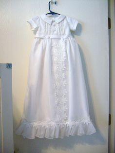 36c67256c Custom Made Unisex Convertible Baptism Outfit Made from a Wedding Gown