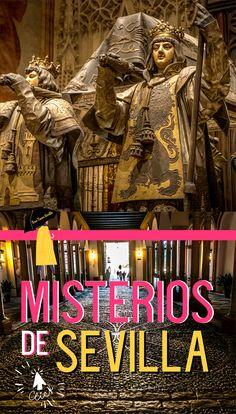 Si vienes a Sevilla de visita, además de ver los grandes monumentos, avenidas, estrechas calles, sus bares de tapas y copas, quizás quieras conocer los grandes misterios de la ciudad. Al ser una de las ciudades con más historia de España, como imaginarás cuenta con un gran histórico de misterios. Muchos probados históricamente, otros convertidos en leyendas. Te proponemos dos maneras diferentes de conocerlos. + FREE TOUR SEVILLA MISTERIOS Broadway Shows, Movie Posters, Movies, Free, Tapas Bar, Monuments, Getting To Know, Legends, Sevilla
