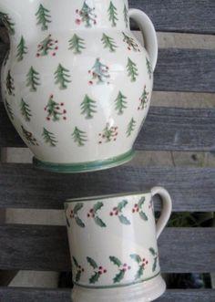 Emma Bridgewater Christmas Trees Pint Jug and Pint Mug Christmas Dishes, Christmas Trees, Christmas Decorations, China Clay, China Mugs, Mugs And Jugs, Emma Bridgewater Pottery, Christmas Specials, Teacups