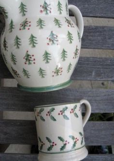 Emma Bridgewater Christmas Trees 1.5 Pint Jug and 0.5 Pint Mug